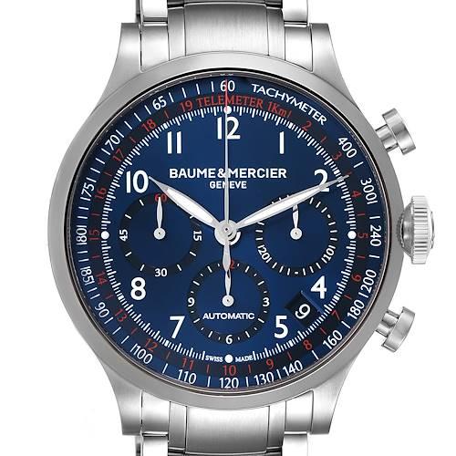 Photo of Baume Mercier Capeland Blue Dial Chronograph Steel Mens Watch 10066