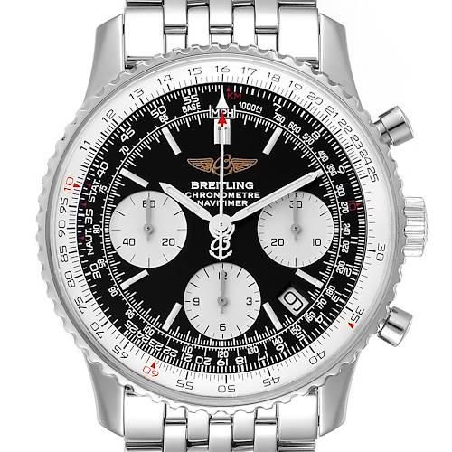 Photo of Breitling Navitimer Black Dial Chronograph Steel Mens Watch A23322