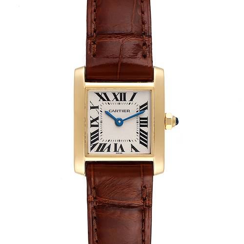 Photo of Cartier Tank Francaise Yellow Gold Silver Dial Quartz Ladies Watch W5000256