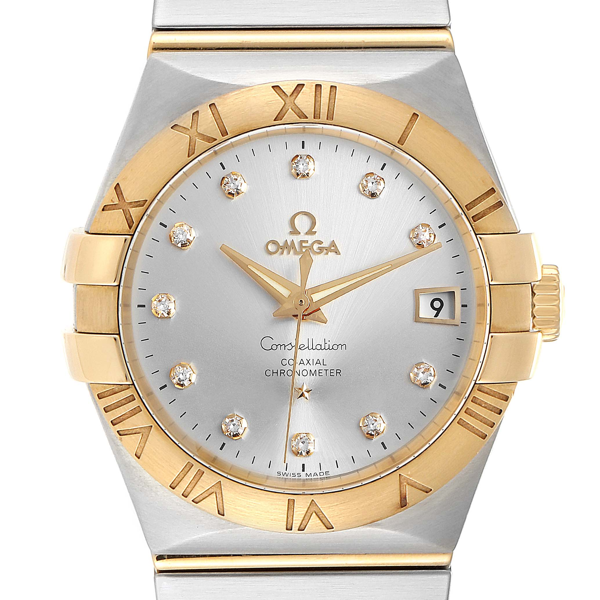 Photo of Omega Constellation Steel Yellow Gold Diamond Mens Watch 111.20.36.20.52.001