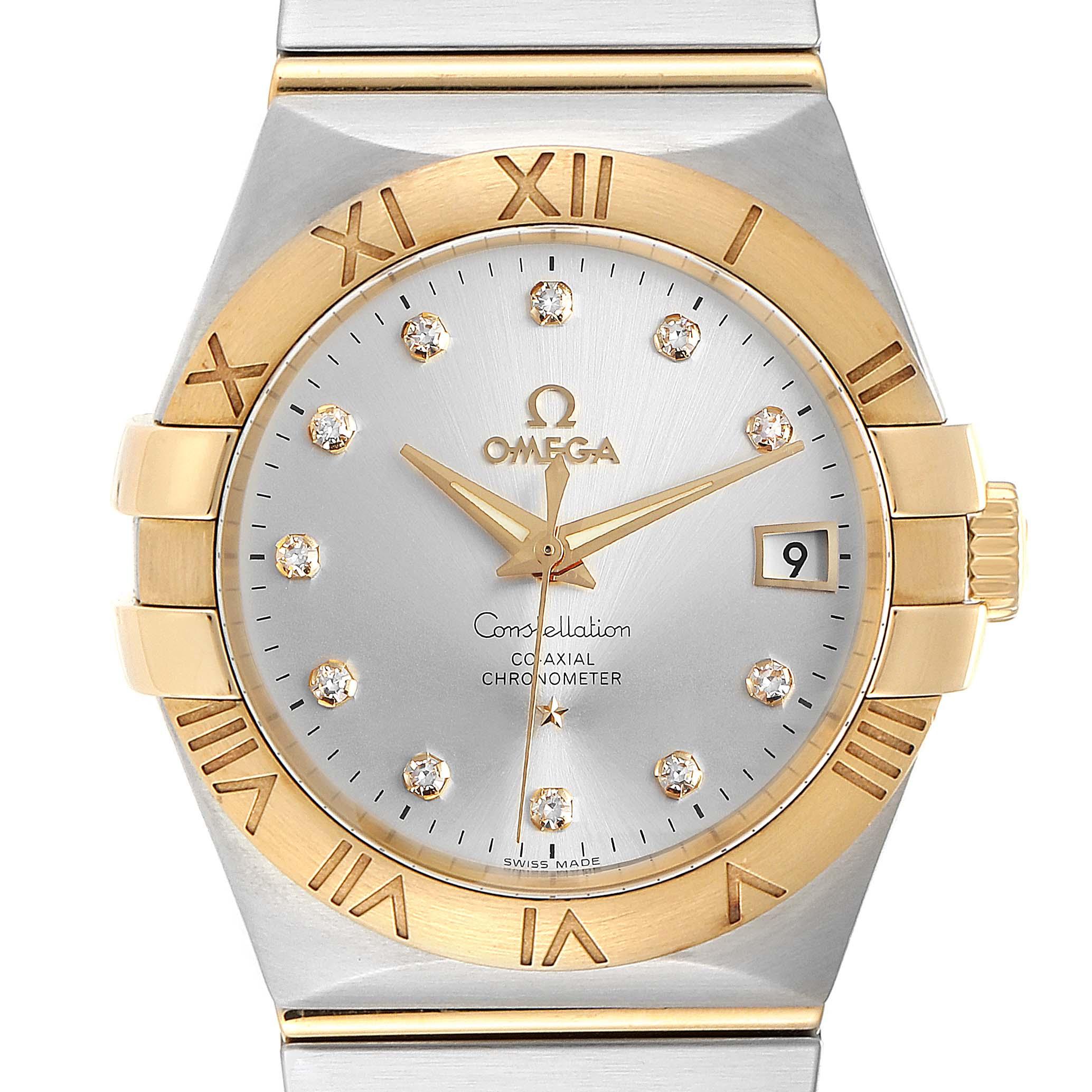 Photo of Omega Constellation Steel Yellow Gold Diamond Mens Watch 111.20.36.20.52.001