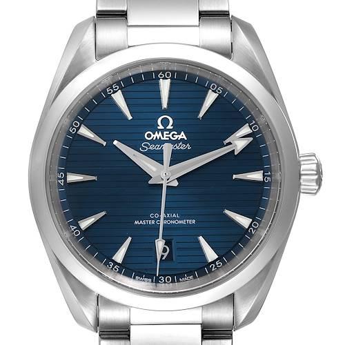 Photo of Omega Seamaster Aqua Terra Blue Dial Steel Mens Watch 220.10.38.20.03.001