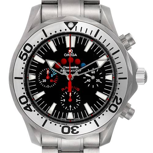 Photo of Omega Seamaster Regatta Racing Titanium Mens Watch 2269.50.00 Box Card