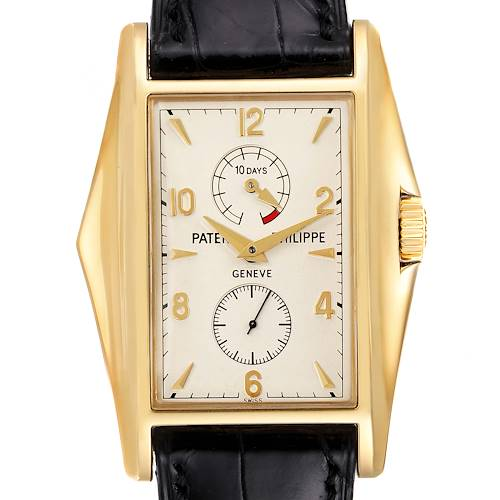 Photo of Patek Philippe 10 Day Power Reserve Yellow Gold Mens Watch 5100 Box Papers