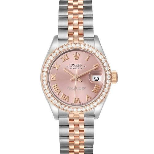 Photo of Rolex Datejust 28 Steel Rolesor Everose Gold Diamond Ladies Watch 279381