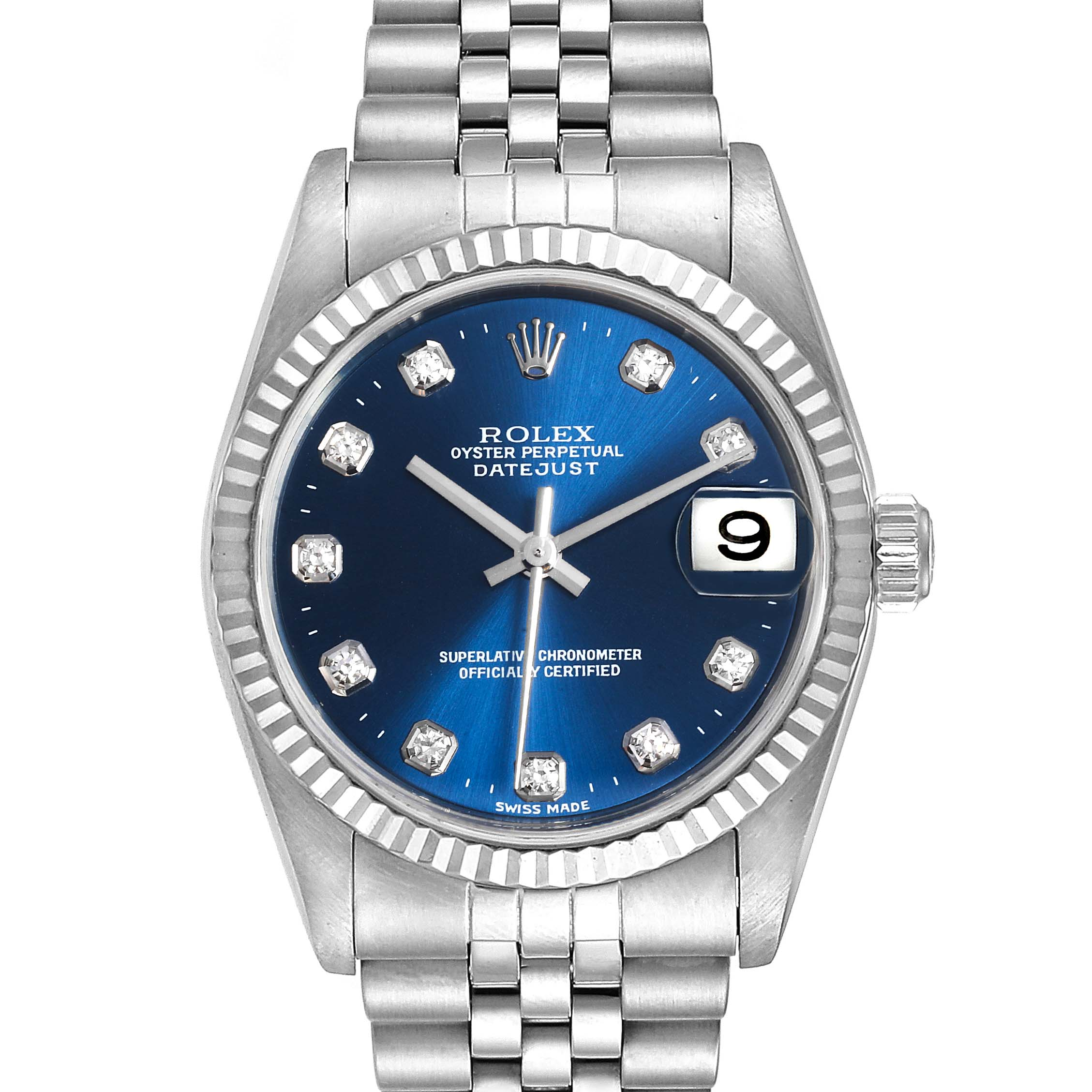 Photo of Rolex Datejust Midsize Steel White Gold Diamond Ladies Watch 78274 PARTIAL PAYMENT FOR MARIA CA