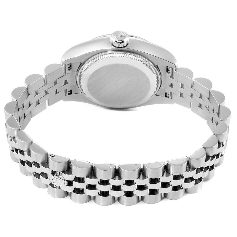 Rolex Datejust Salmon Roman Dial Steel Ladies Watch 179160 SwissWatchExpo