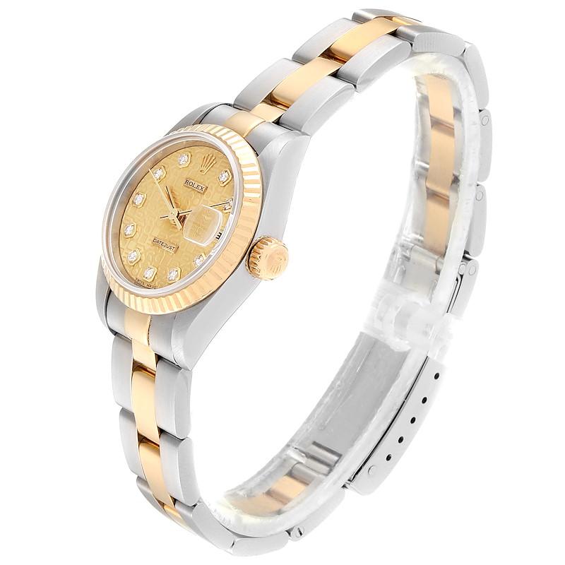 Rolex Datejust Steel Yellow Gold Diamond Dial Ladies Watch 79173 SwissWatchExpo