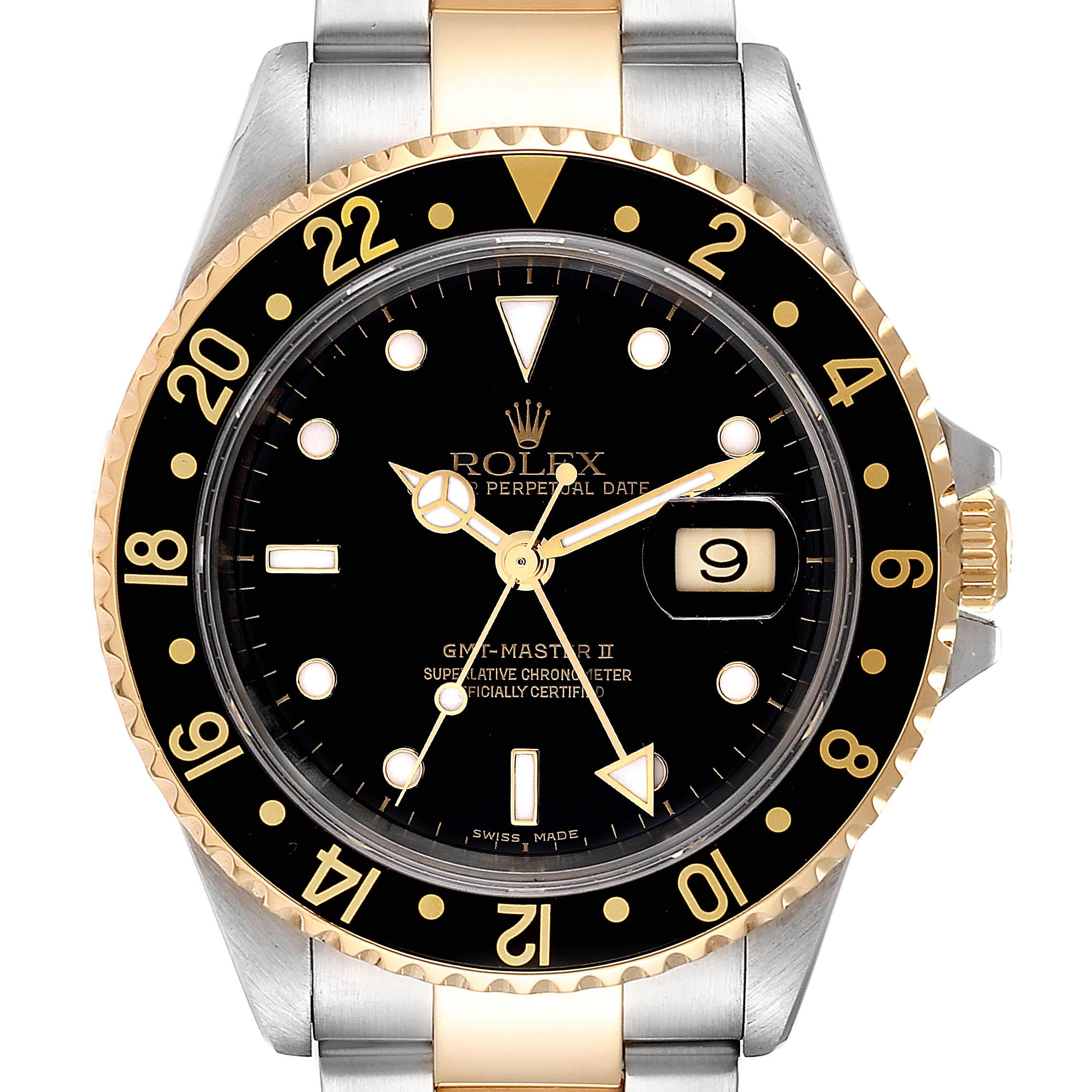 Photo of Rolex GMT Master II Yellow Gold Steel Oyster Bracelet Mens Watch 16713 PARTIAL PAYMENT