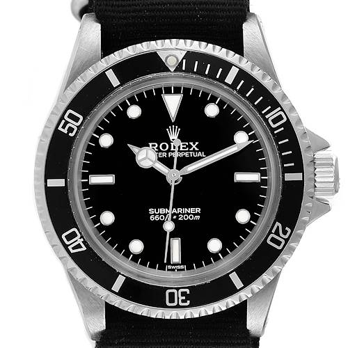 Photo of Rolex Submariner Black Dial Vintage Stainless Steel Mens Watch 5513