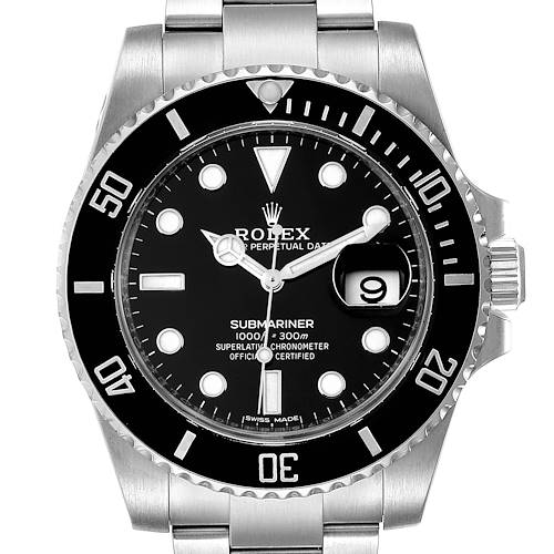 Photo of Rolex Submariner Ceramic Bezel Black Dial Steel Mens Watch 116610 Box Card Unworn