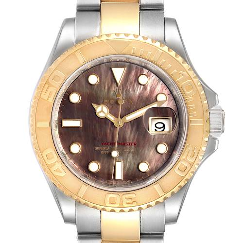 Photo of Rolex Yachtmaster 40 Steel Yellow Gold MOP Mens Watch 16623 Box Card