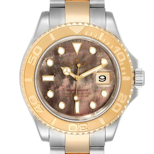 Photo of Rolex Yachtmaster 40 Steel Yellow Gold MOP Mens Watch 16623 Box Papers
