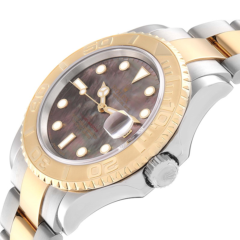 Rolex Yachtmaster 40 Steel Yellow Gold MOP Mens Watch 16623 Box Papers SwissWatchExpo