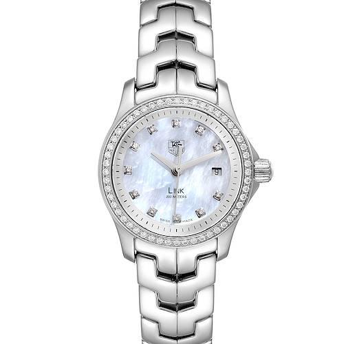Photo of TAG Heuer Link MOP Diamond Dial Bezel Steel Ladies Watch WJF1319