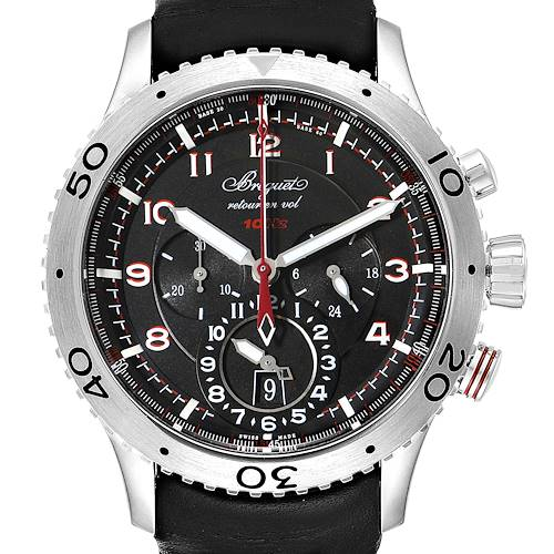 Breguet Transatlantique Type XXII Flyback Steel Mens Watch 3880ST