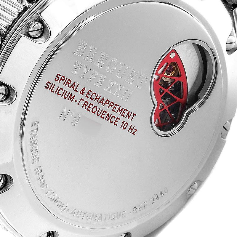 Breguet Transatlantique Type XXII Flyback Steel Mens Watch 3880ST SwissWatchExpo