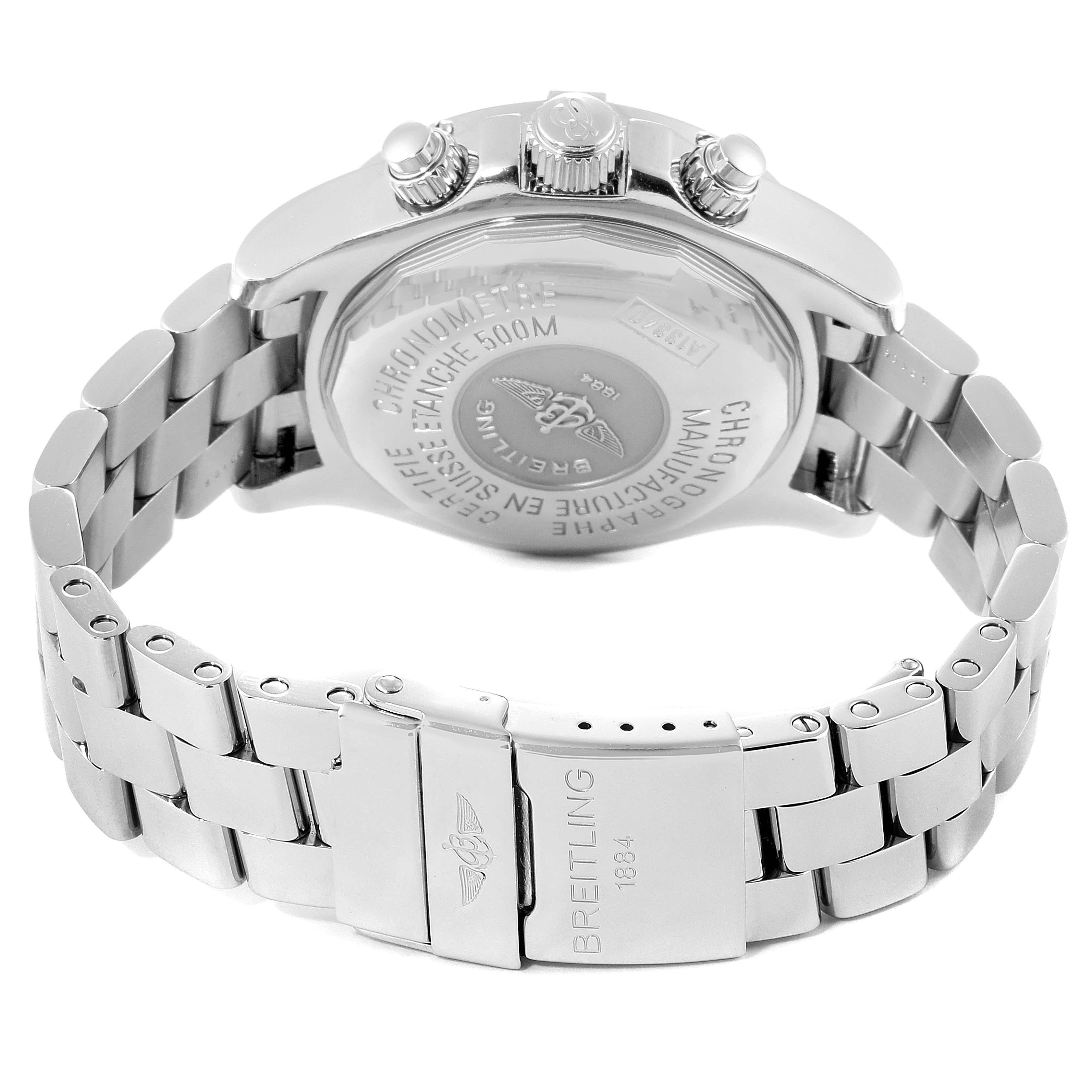 Breitling Aeromarine Superocean Silver Dial Mens Watch A13340 Box SwissWatchExpo