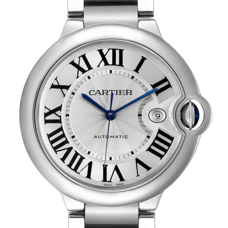 Cartier Ballon Bleu 42 Steel Automatic Mens Watch W69012Z4 Box Papers SwissWatchExpo