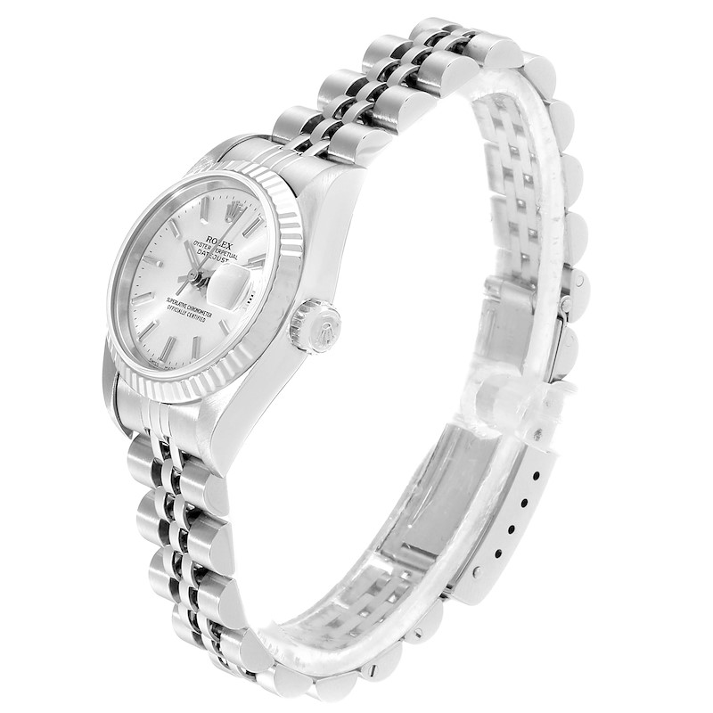 Rolex Datejust 26 Steel White Gold Silver Dial Ladies Watch 79174 SwissWatchExpo