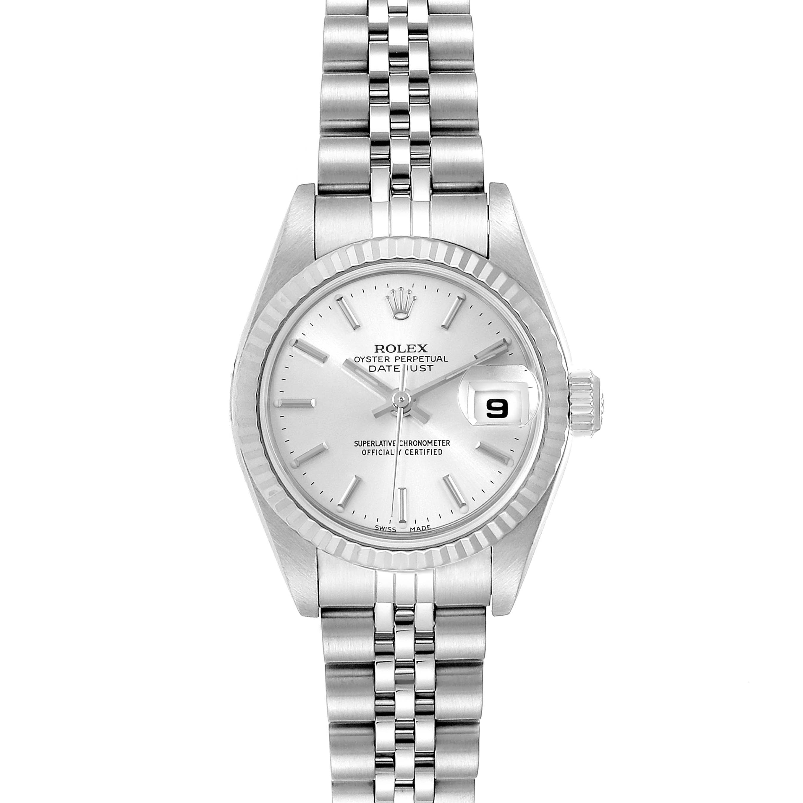 Photo of Rolex Datejust 26 Steel White Gold Silver Dial Ladies Watch 79174