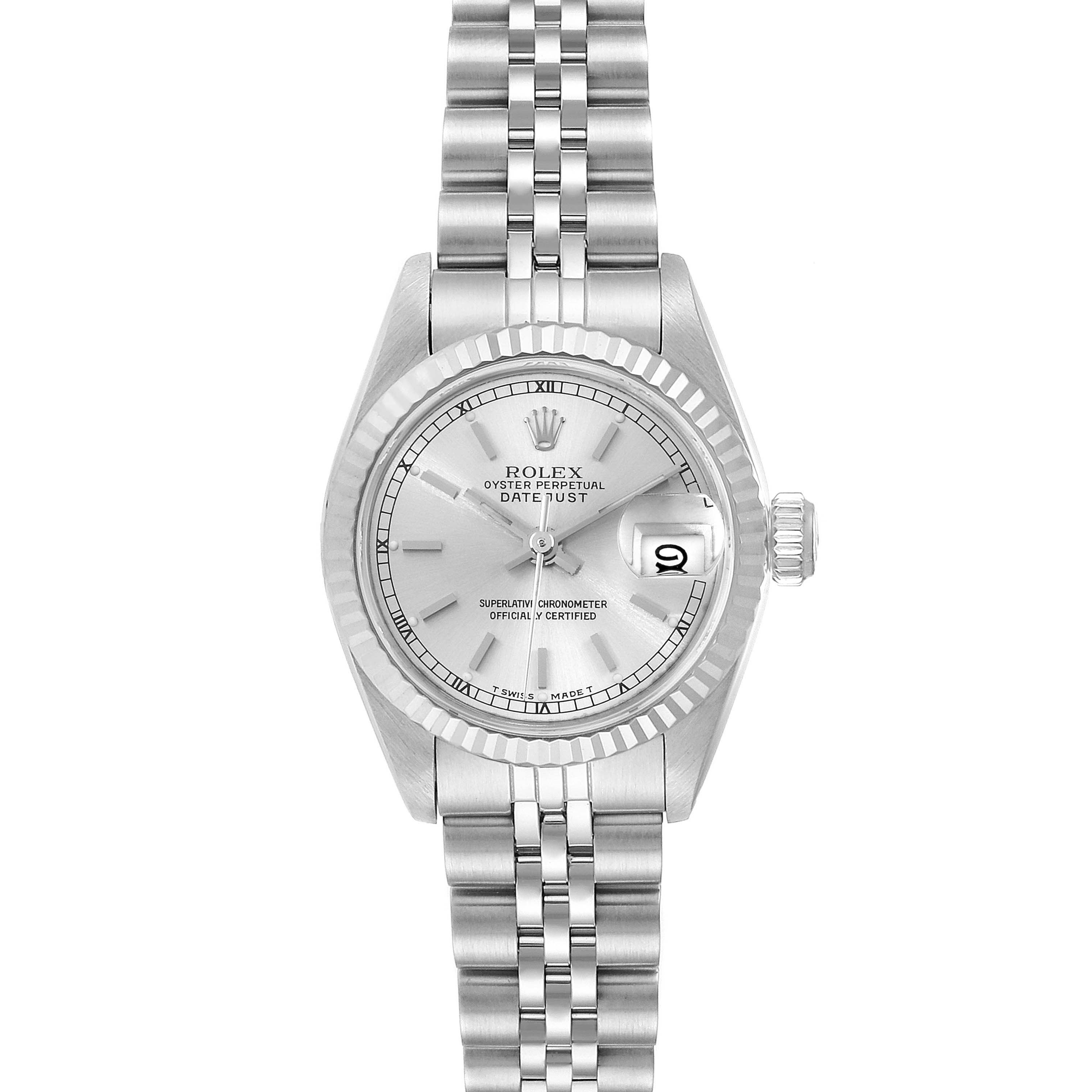 Photo of Rolex Datejust Steel White Gold Jubilee Bracelet Ladies Watch 69174