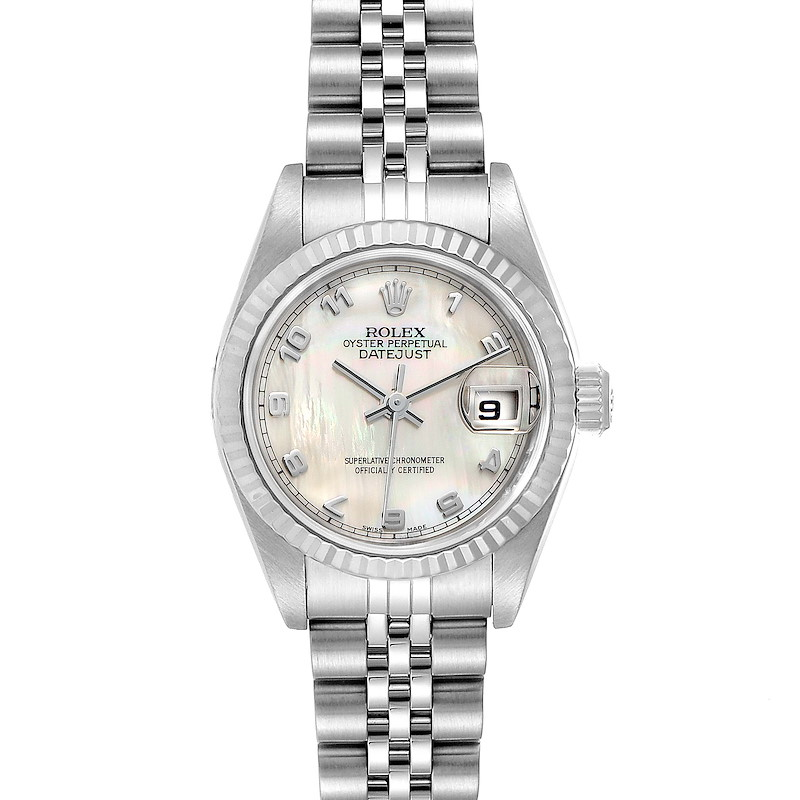 Rolex Datejust Steel White Gold Mother of Pearl Ladies Watch 79174 SwissWatchExpo