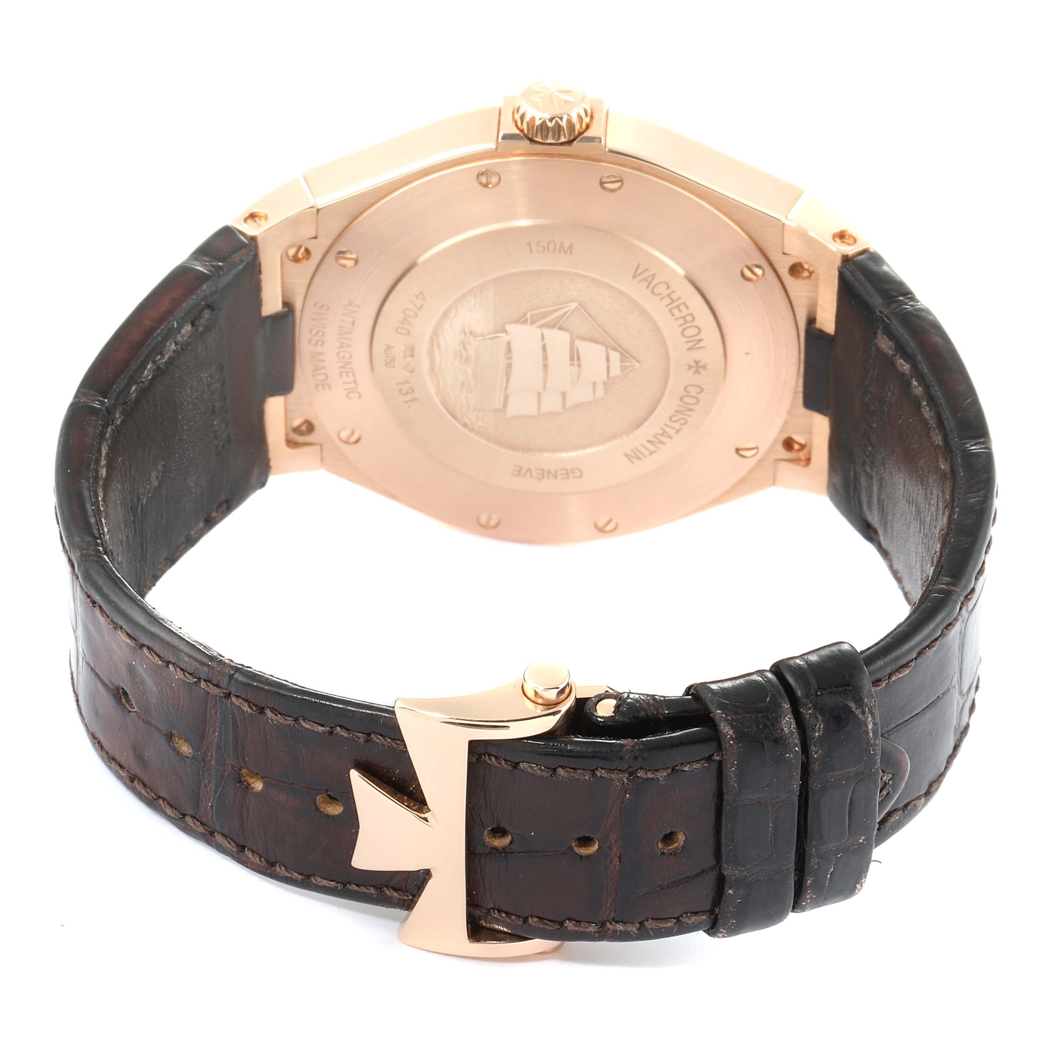 Vacheron Constantin Overseas Date Rose Gold Mens Watch 47040 SwissWatchExpo