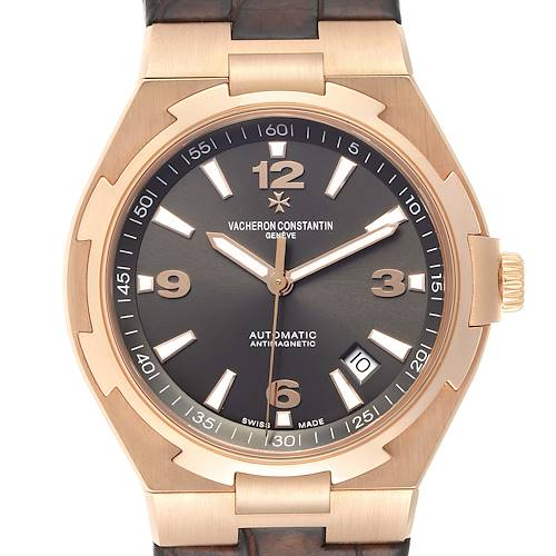 Vacheron Constantin Overseas Date Rose Gold Mens Watch 47040