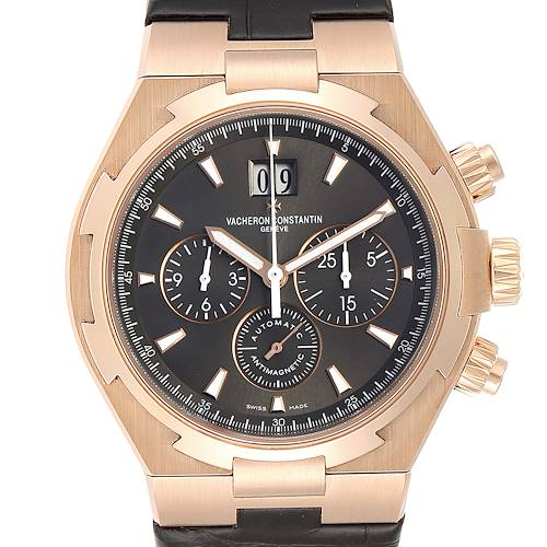 Photo of Vacheron Constantin Overseas 18K Rose Gold Mens Watch 49150 Box Papers