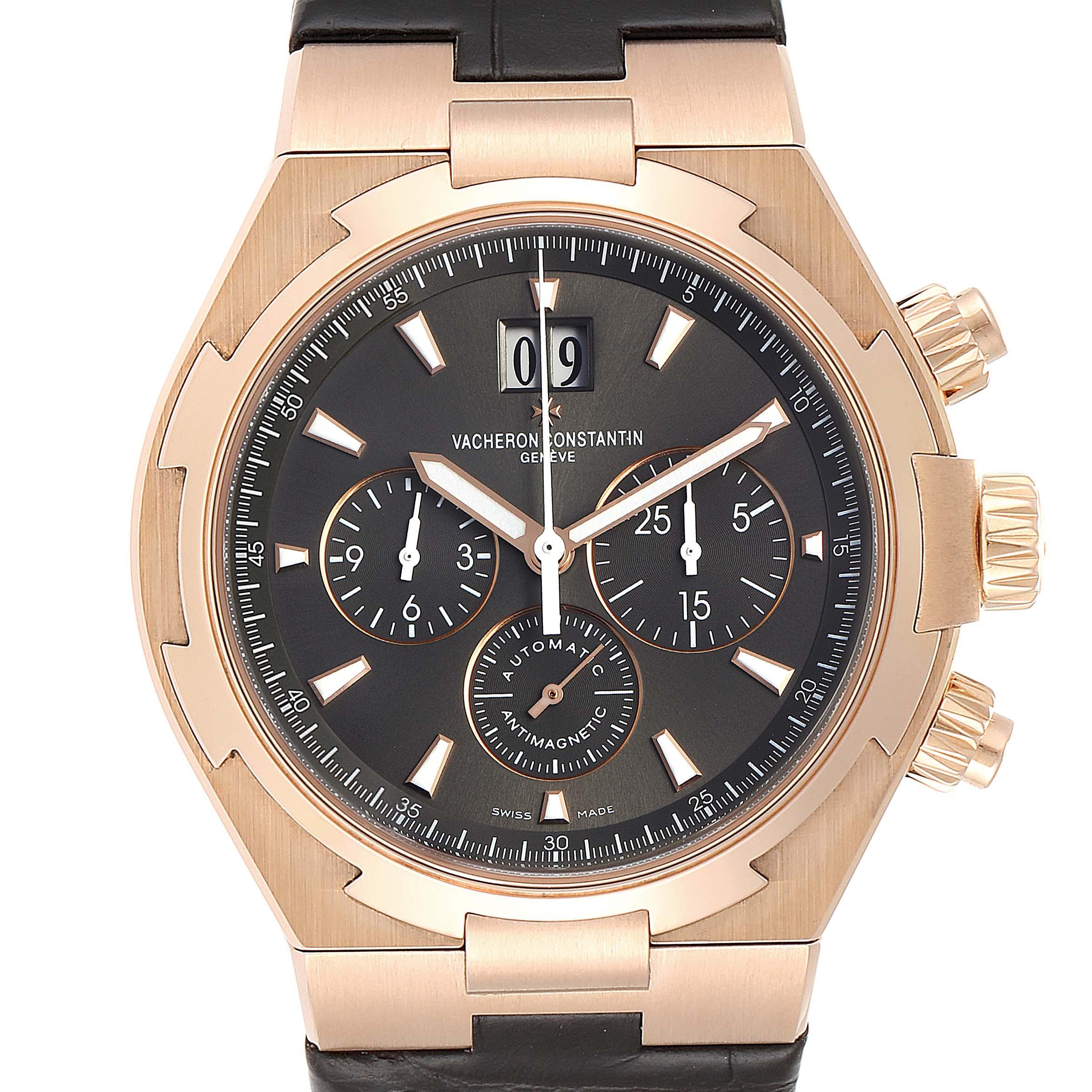 Vacheron Constantin Overseas Rose Gold Mens Watch 49150 Box Papers SwissWatchExpo