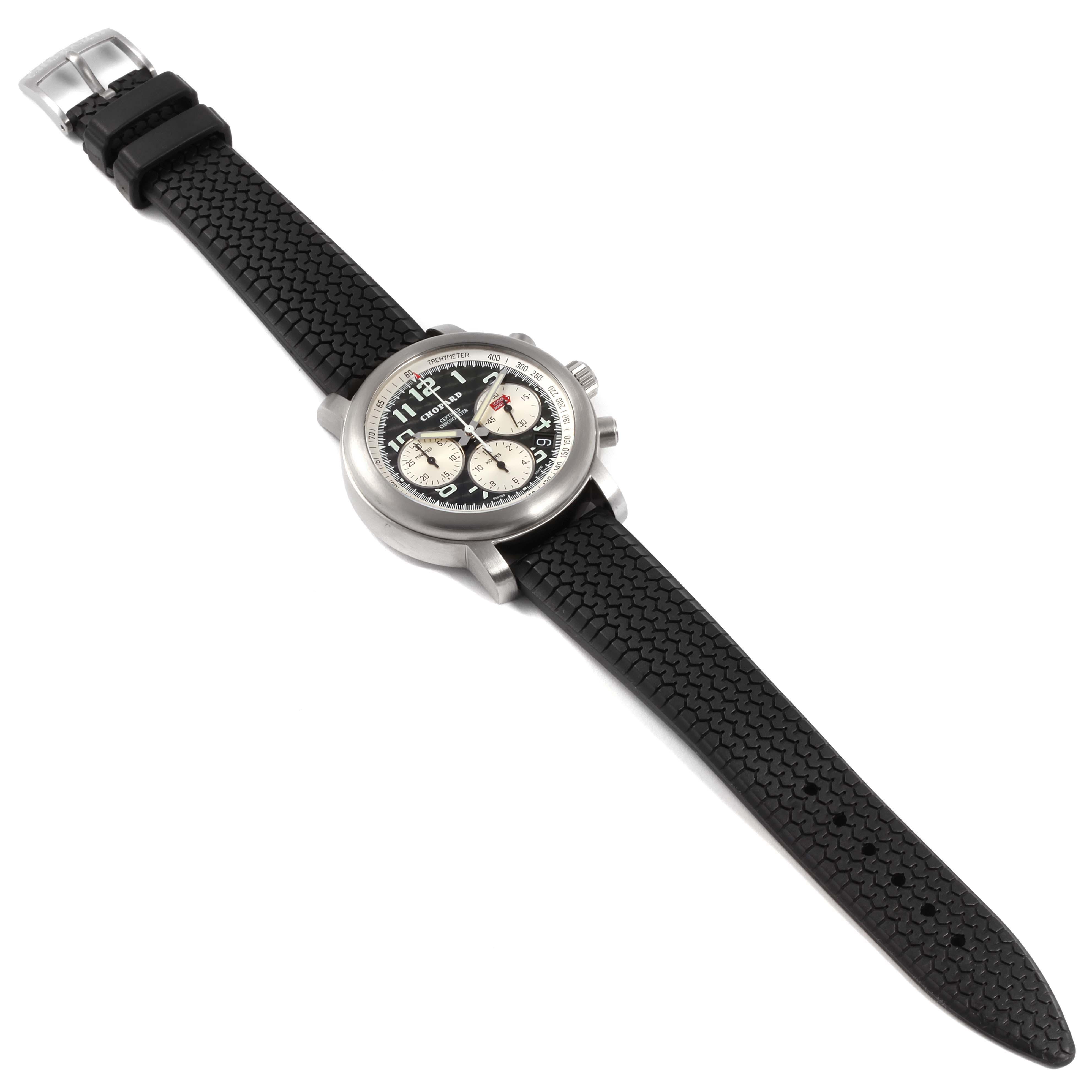 Chopard Happy Mille Miglia Titanium Chronograph Mens Watch 8407 SwissWatchExpo