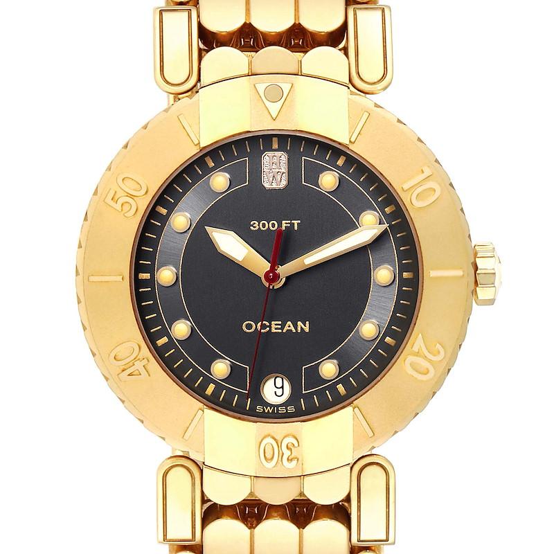 Harry Winston Submariner Ocean 38mm 18K Yellow Gold Mens Watch SwissWatchExpo