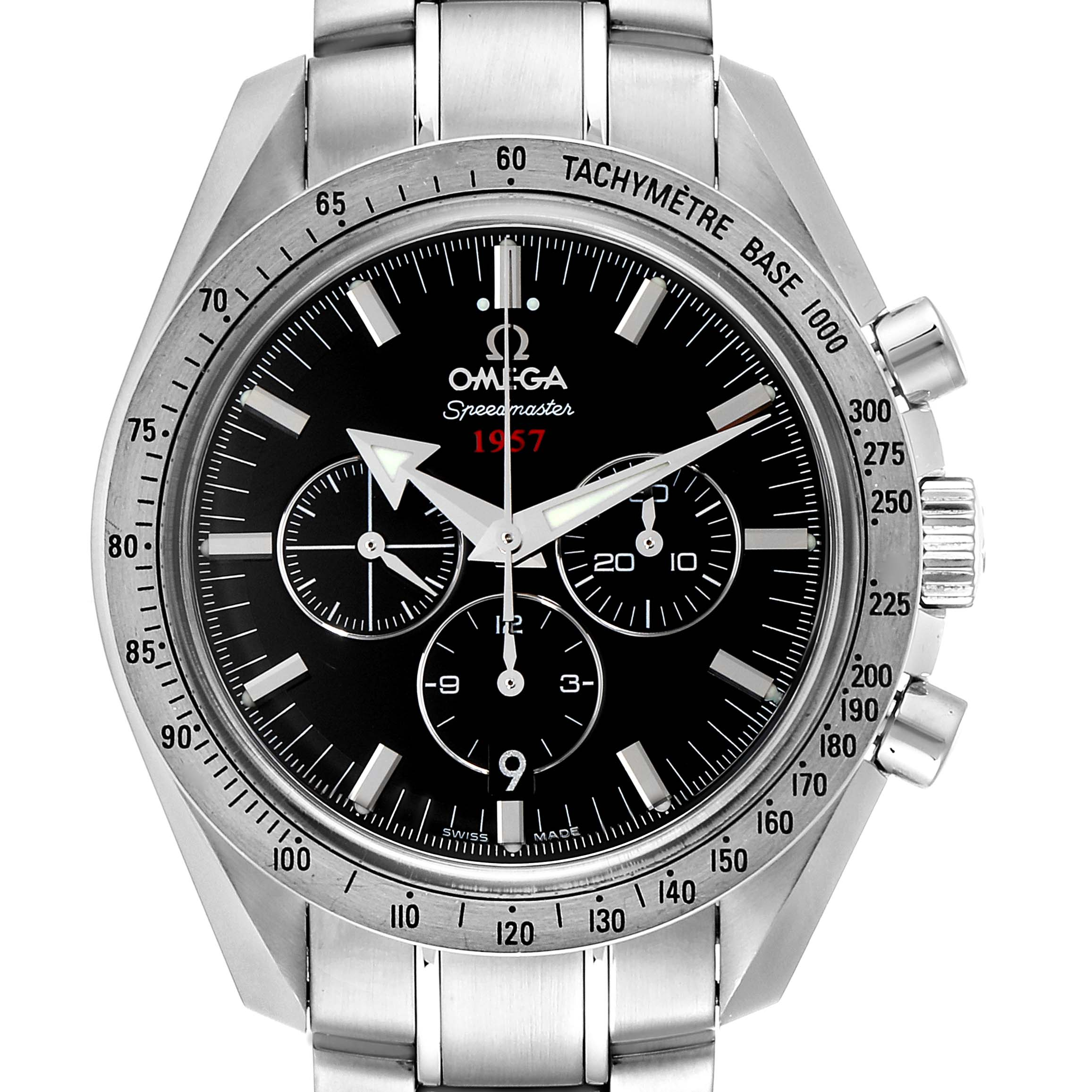 Omega Speedmaster Broad Arrow 1957 Watch 321.10.42.50.01.001 SwissWatchExpo