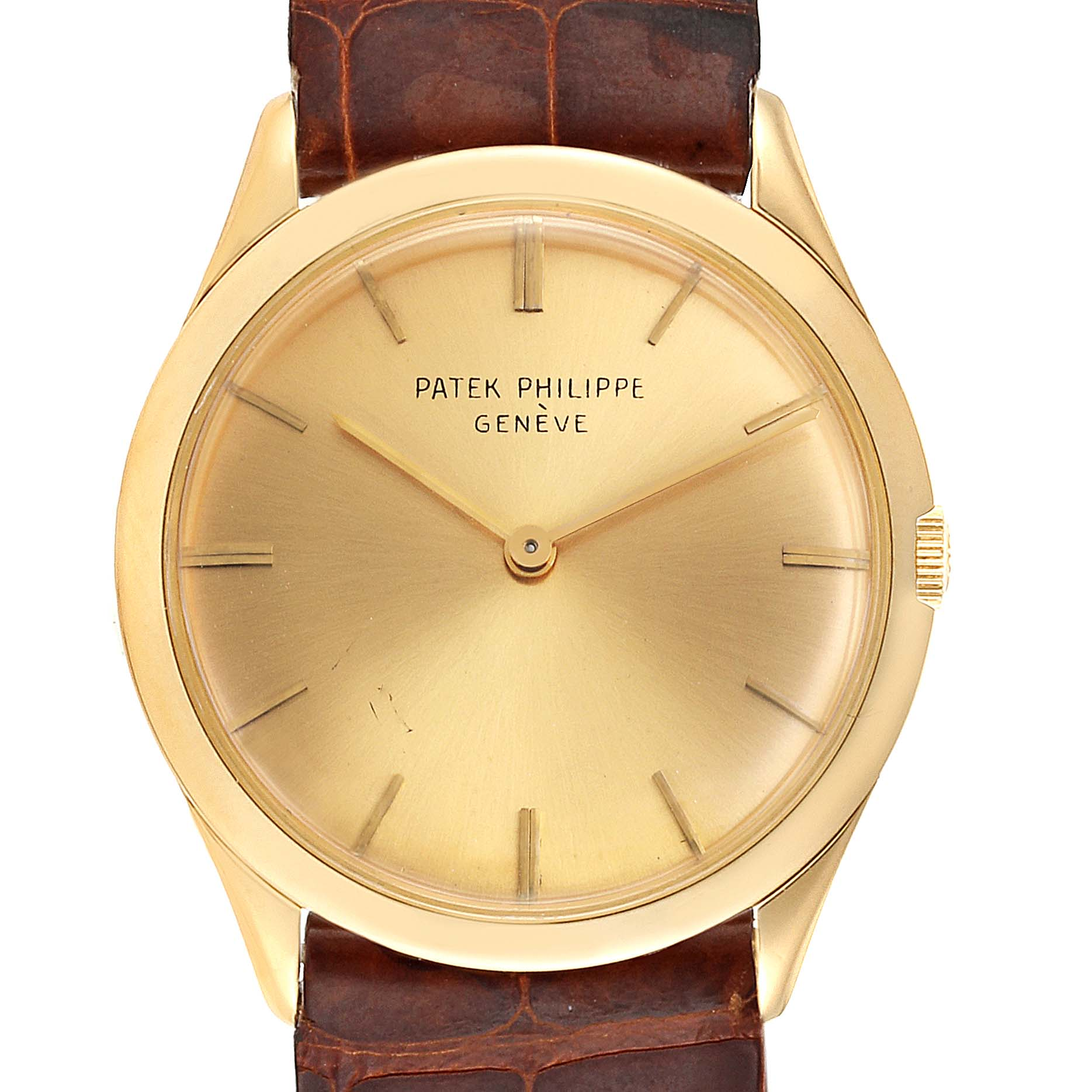 Patek Philippe Calatrava Yellow Gold Mechanical Vintage Mens Watch 2589