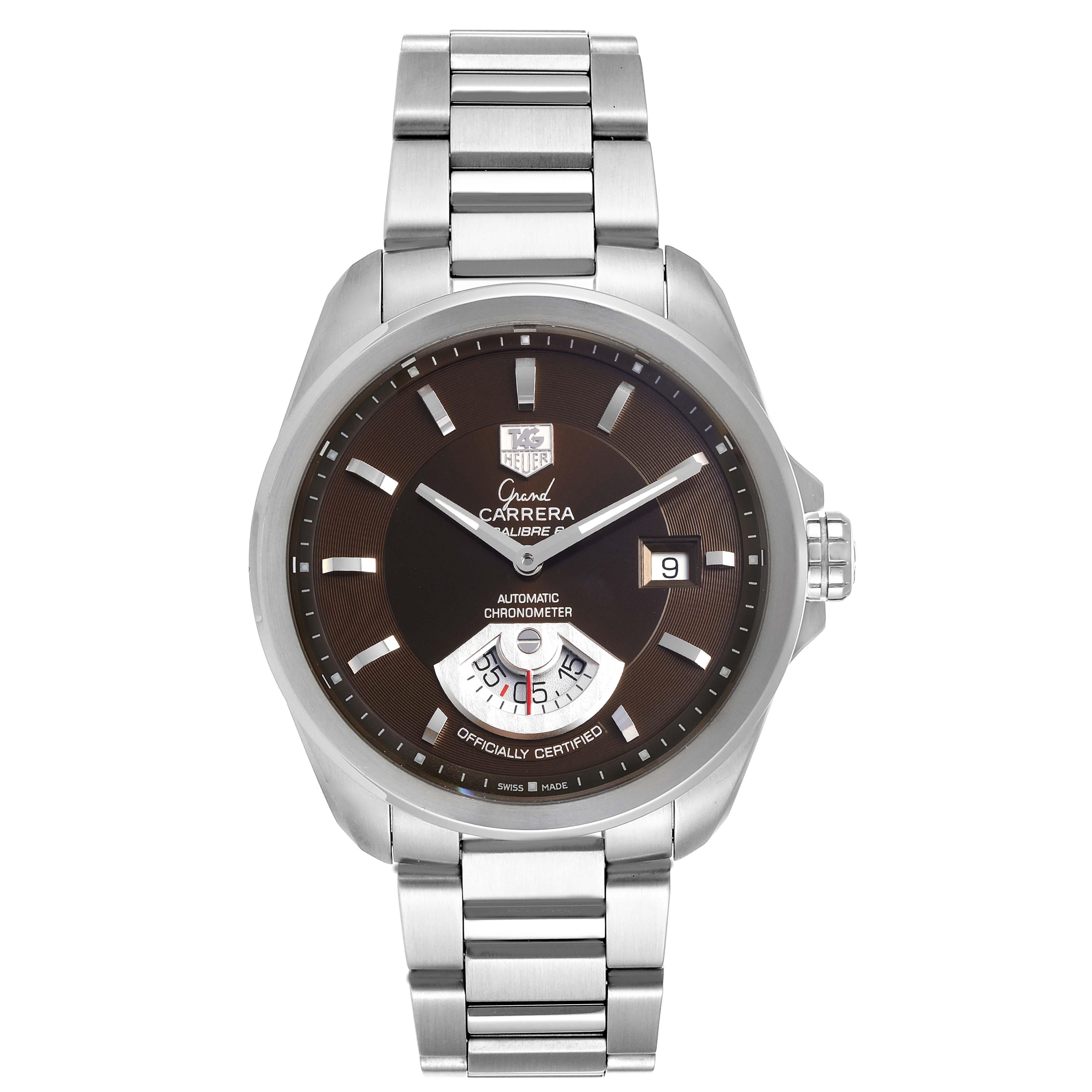 Tag Heuer Carrera Black Dial Automatic Mens Watch WAV511C Box Card SwissWatchExpo