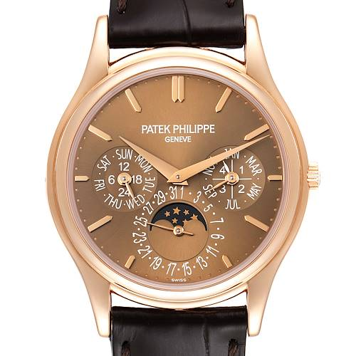 Photo of Patek Philippe Complicated Perpetual Calendar Rose Gold Mens Watch 5140