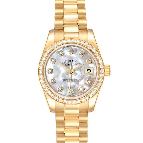 Photo of NOT FOR SALE -- Rolex President Ladies 18k Yellow Gold MOP Diamond Ladies Watch 179138 -- PARTIAL PAYMENT