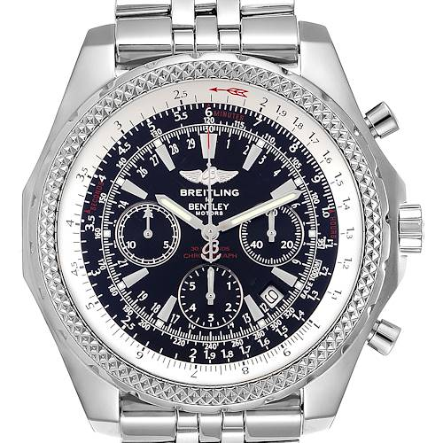 Photo of Breitling Bentley Motors Black Dial Chronograph Steel Mens Watch A25362
