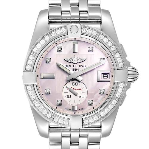 Photo of Breitling Galactic 36 Mother of Pearl Diamond Steel Ladies Watch A37330