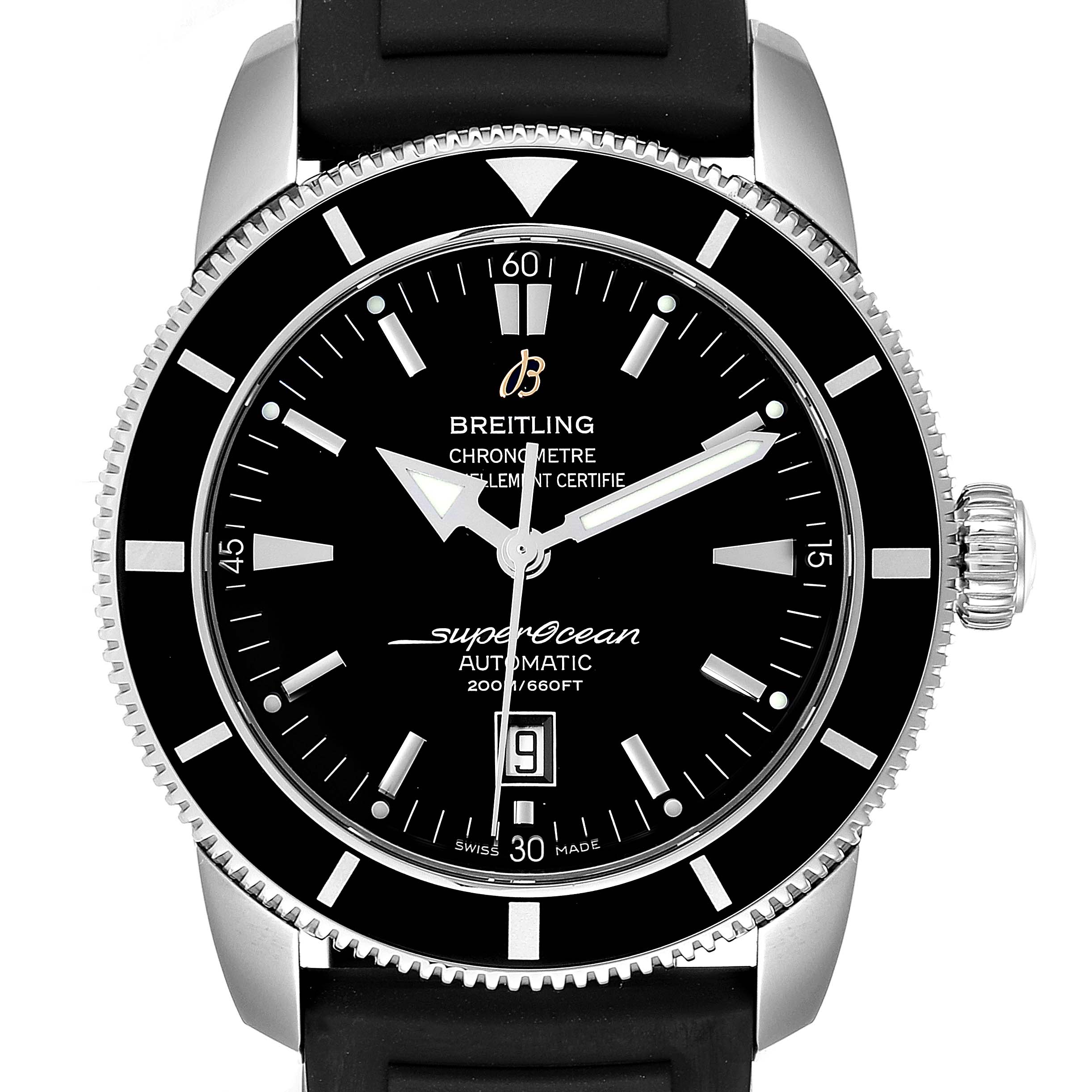 Photo of Breitling Superocean Heritage 46 Black Dial Rubber Strap Watch A17320