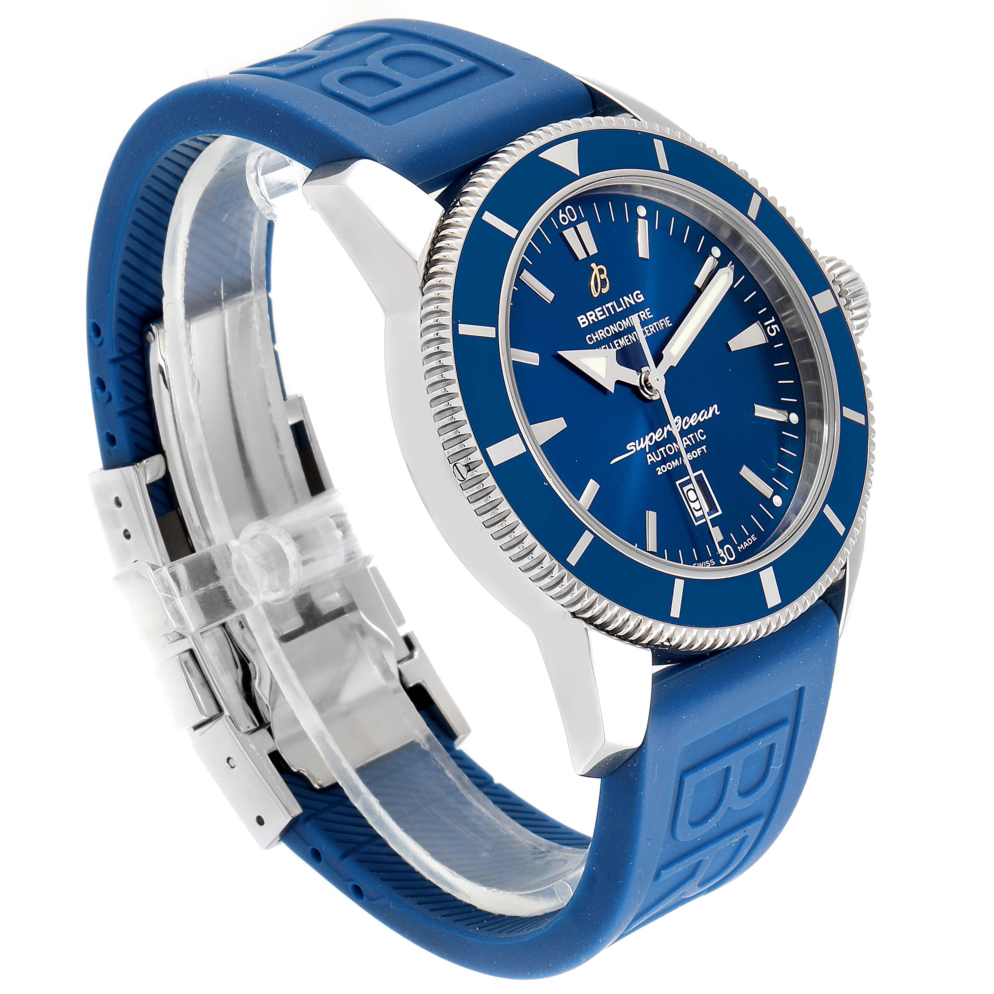 Breitling Superocean Heritage 46 Blue Dial Watch A17320 Box Papers SwissWatchExpo
