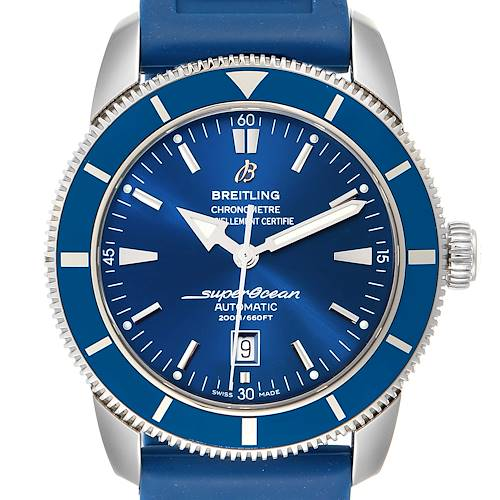 Photo of Breitling Superocean Heritage 46 Blue Dial Watch A17320 Box Papers