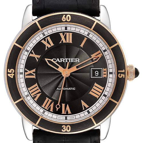 Photo of Cartier Ronde Croisiere Steel Rose Gold Grey Dial Mens Watch W2RN0005