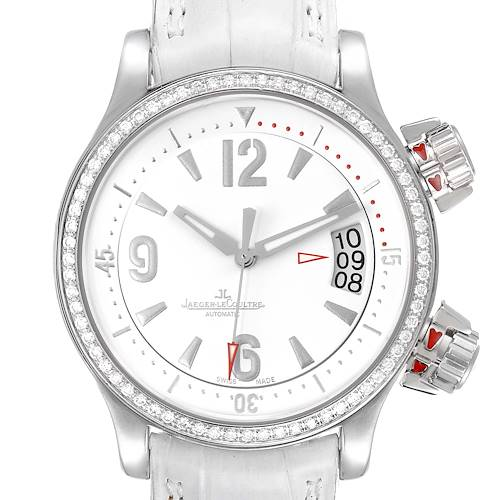 Photo of Jaeger Lecoultre Master Compressor White Dial Diamond Ladies Watch 148.8.60