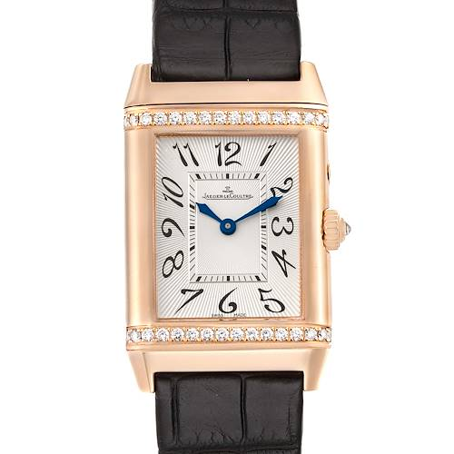 Photo of Jaeger LeCoultre Reverso Duetto Duo Classique Rose Gold Diamond Watch 269.2.54