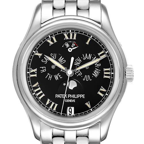 Photo of Patek Philippe Annual Calendar Moonphase White Gold Mens Watch 5036