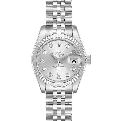 Photo of Rolex Datejust Steel White Gold Diamond Ladies Watch 179174 Box Papers