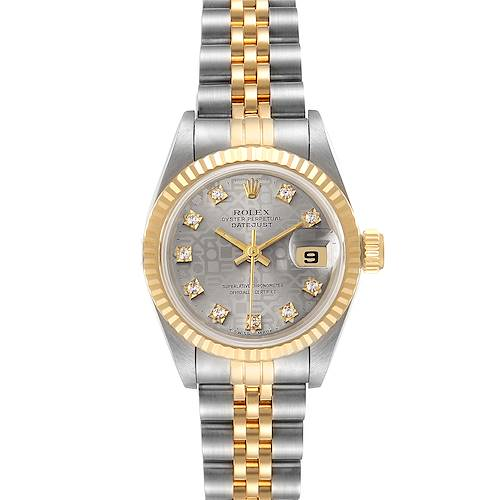 Photo of Rolex Datejust Steel Yellow Gold Diamond Dial Ladies Watch 69173