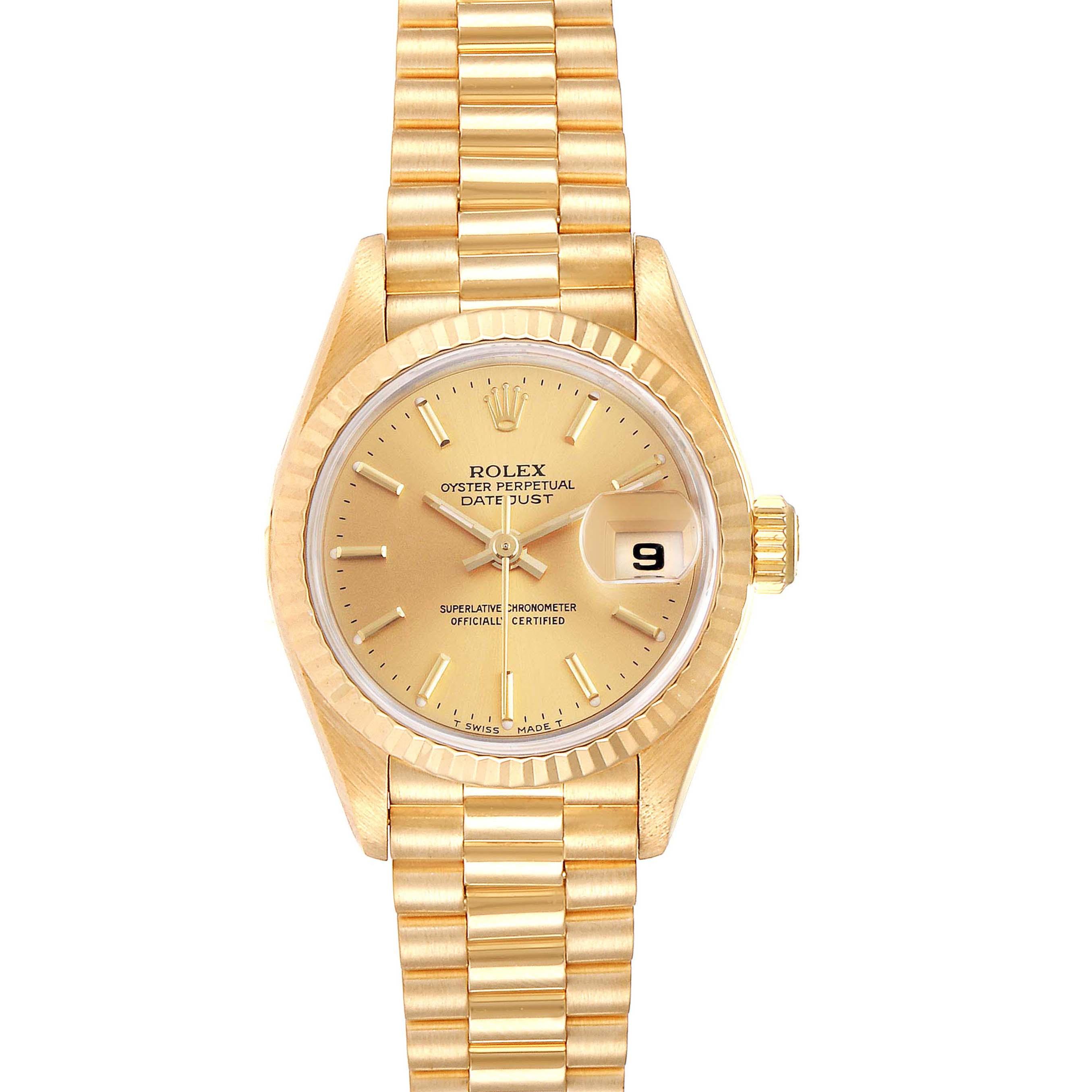 Photo of Rolex President Datejust 26 Yellow Gold Ladies Watch 69178
